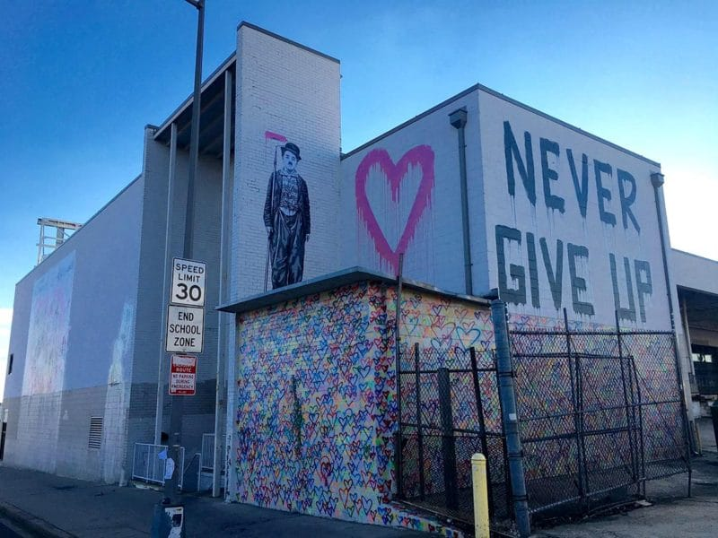 Mr. Brainwash mural (by Laetitia-Laure Brock)