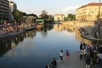 Navigli - canal / aperitivo district of Milan