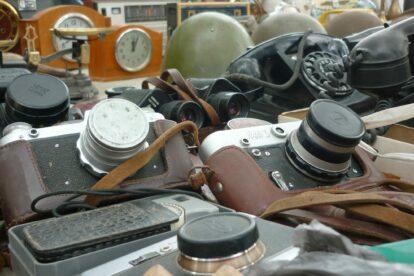 Old Soviet Cameras at Tbilisi's Dry Bridge Market
