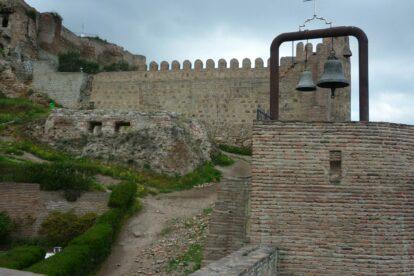 Ruins of Narikala Fortress in Tbilisi