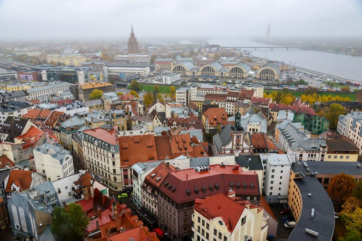 Riga as seen from St. Peter's Church -by Jorge Láscar