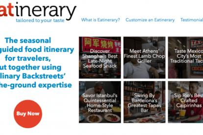 Culinary Backstreets eatinerary