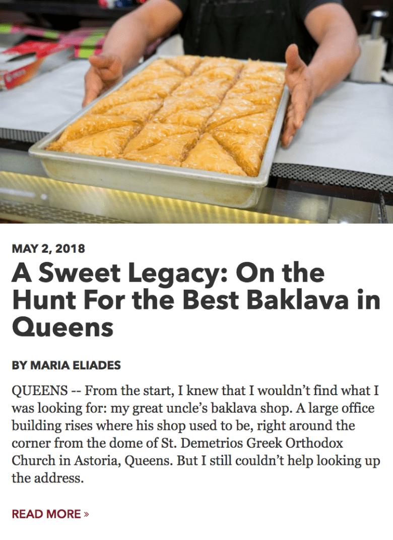 CUlinary Backstreets article