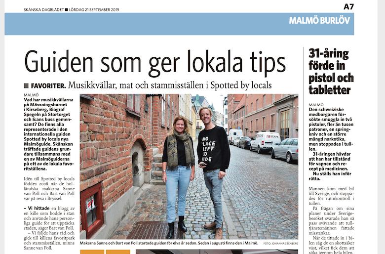 Article in Skånska Dagbladet