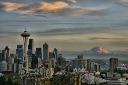 Seattle Skyline - by Andrew E. Larsen
