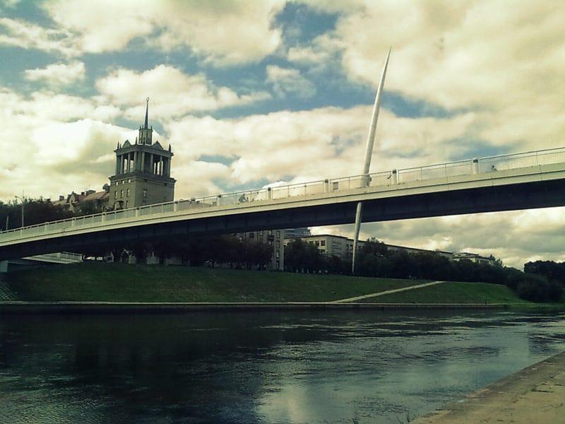 The Baltasis bridge (by Kamilė Naraitė)