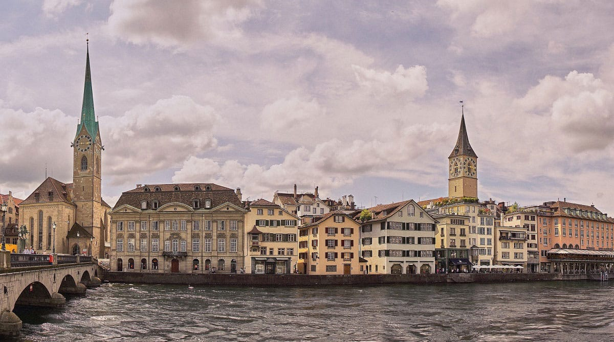 The Limmat River in Zürich - by Pedro Szekely