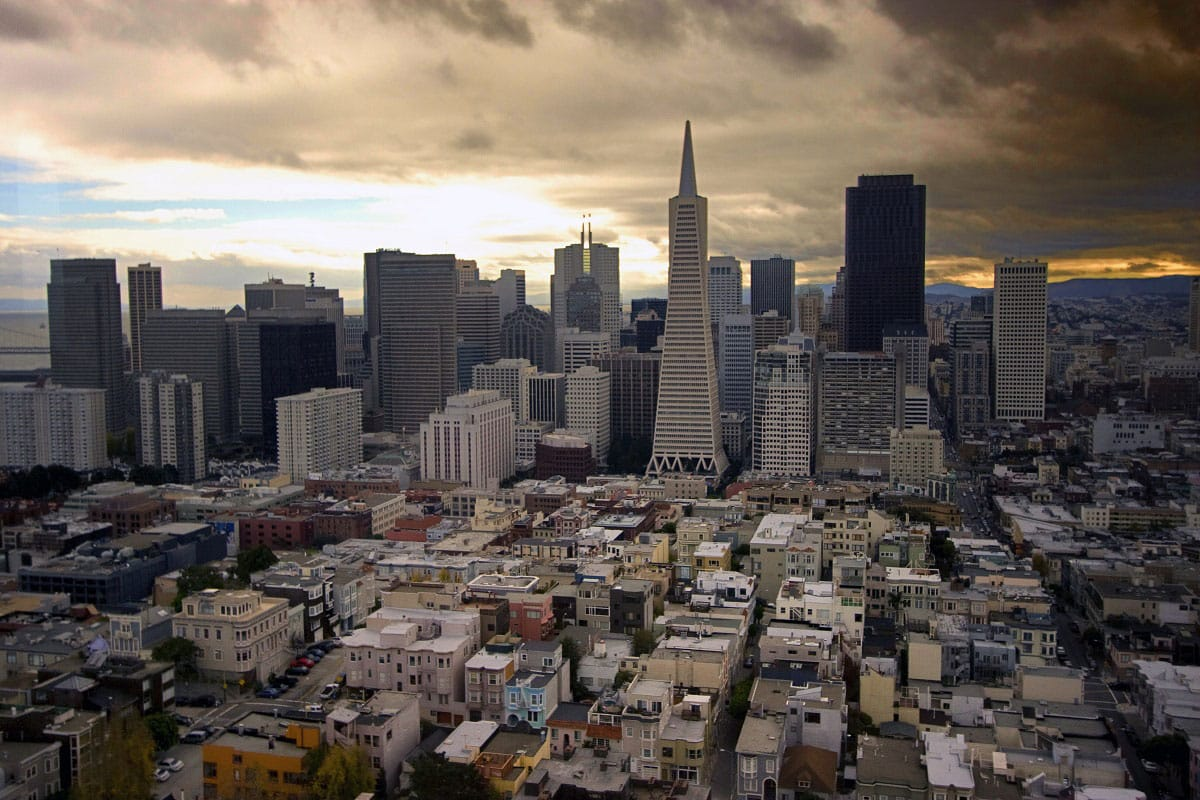 The Skyline from Coit Tower - by Tony Webster (flickr.com)