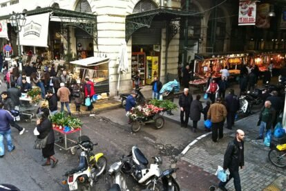 Varvakeios Market - by Liz Muir
