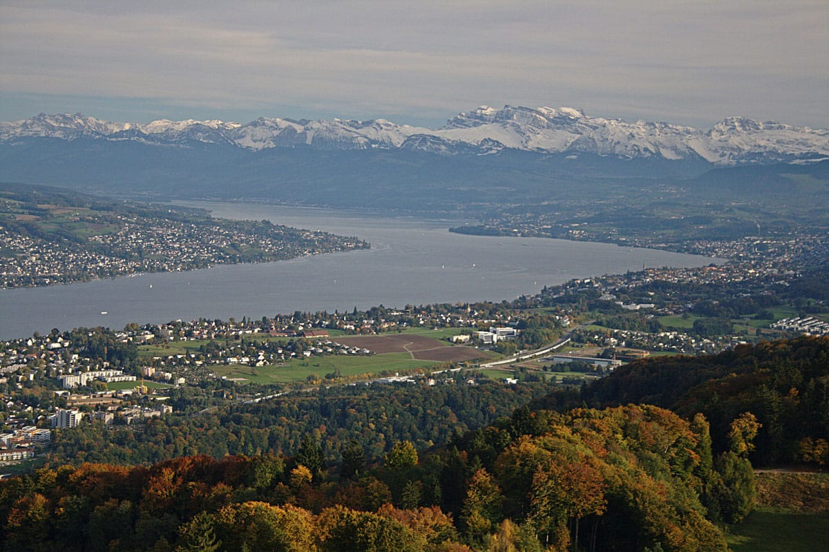 View of Zürich from Uetliberg - by Davide Restivo