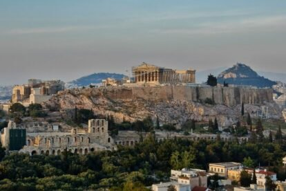 View of the Acropolis - by piet theisohn