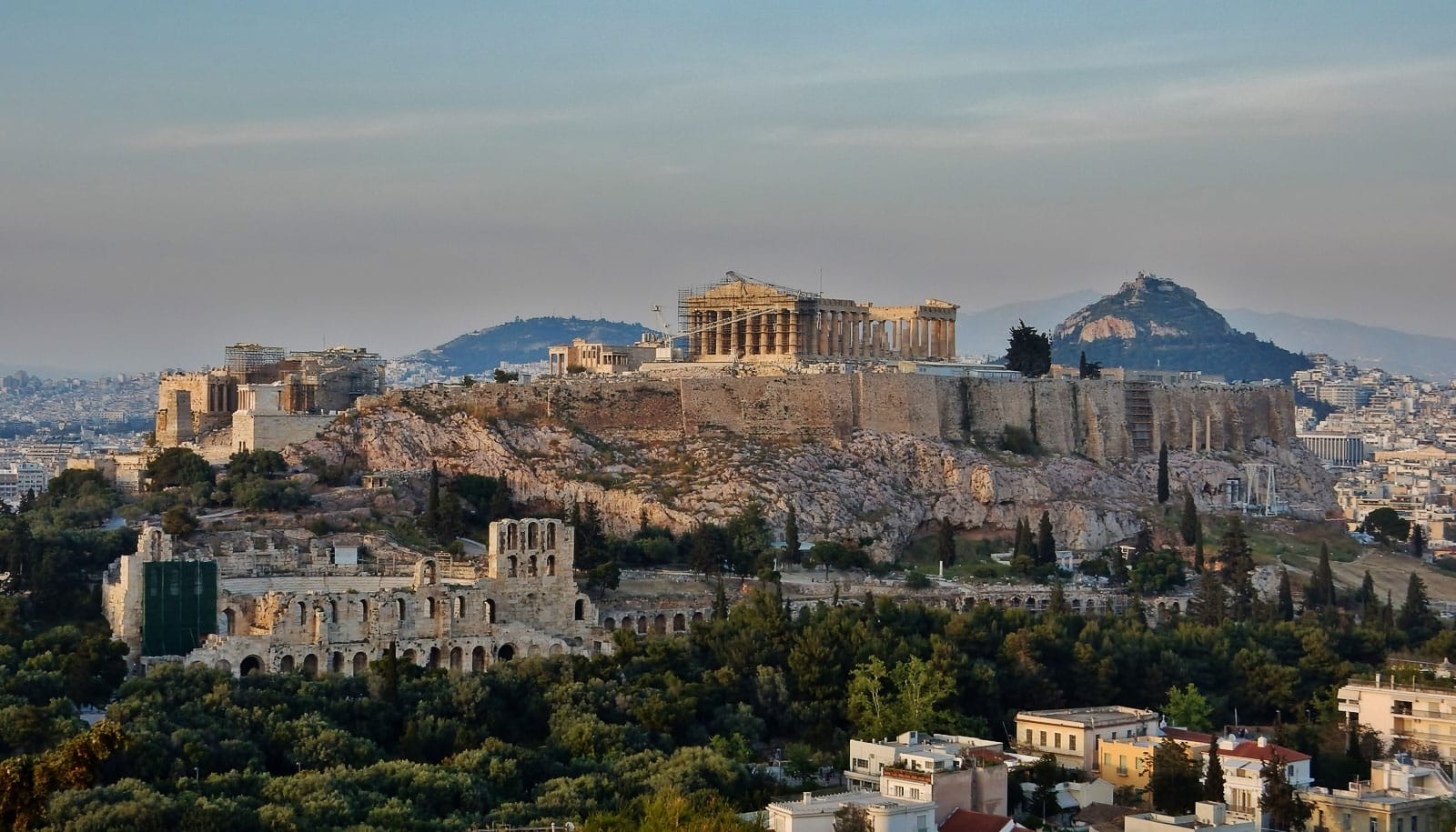 View of the Acropolis - by piet theisohn