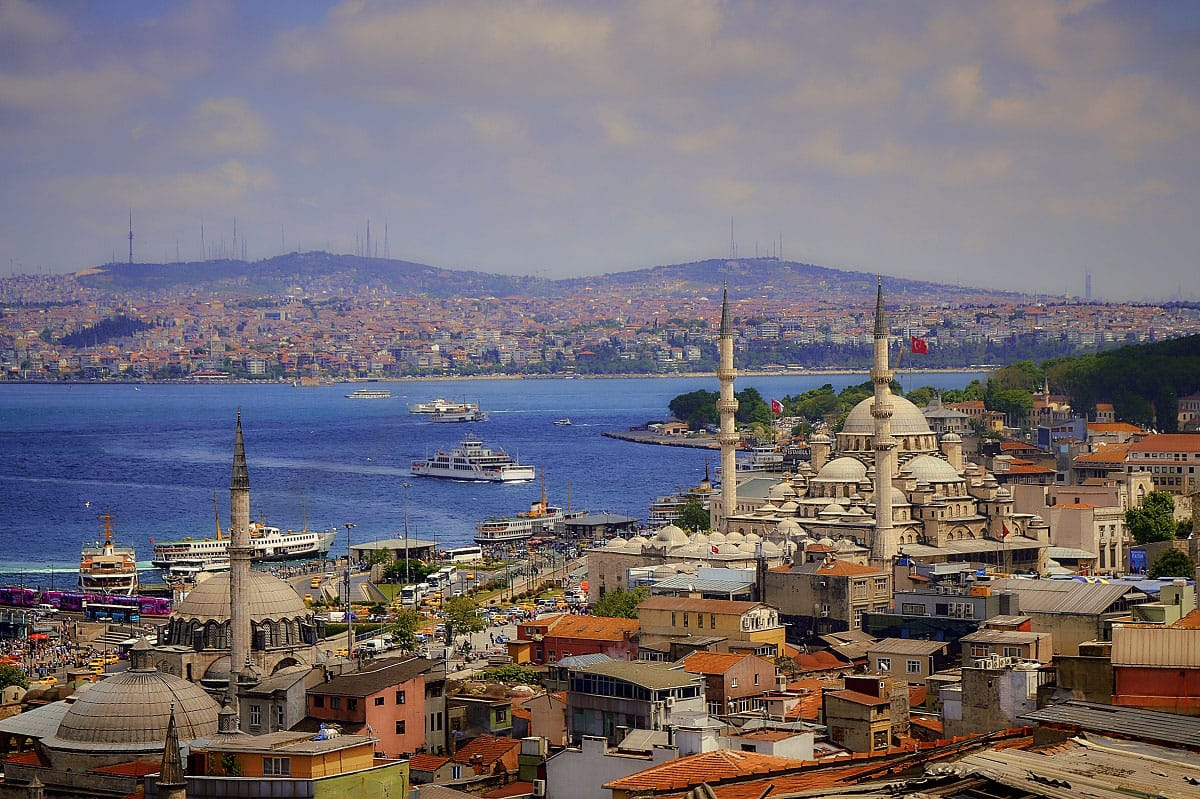 View over the Bosphorus - by Pedro Szekely