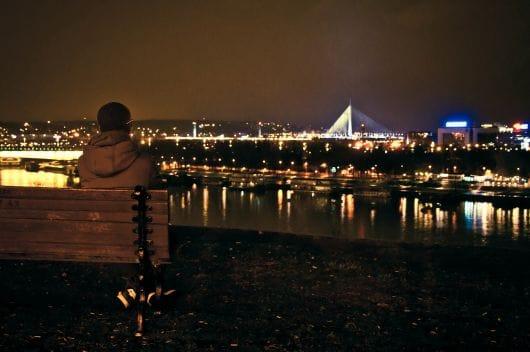 Bench for couples, Belgrade (by Bogdan Spasojević)