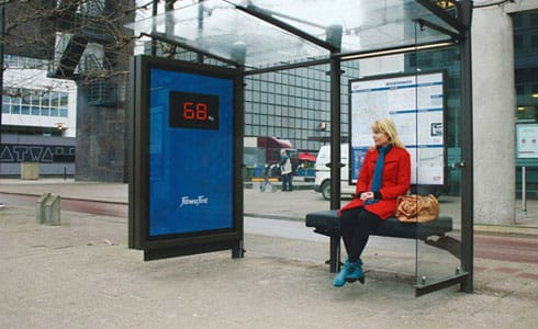 Bus Bench measures weight, FitnessFirst Rotterdam ('09)