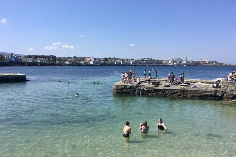 The Forty Foot Dublin swimming