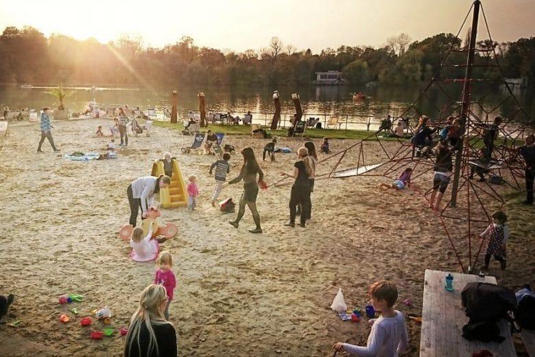 Beach at Weißer See Berlin