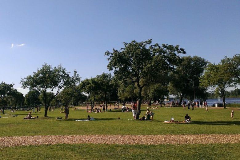 Lucavsala Riga parks