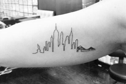 New York cityline tattoo