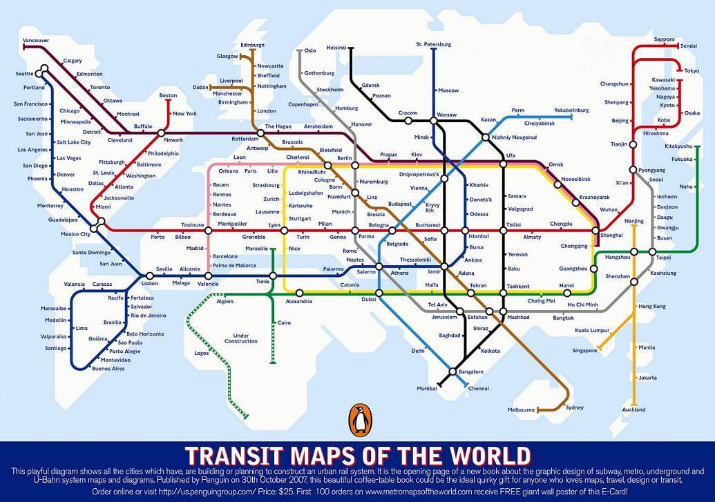 Which cities in the world have a metro or subway Spotted by