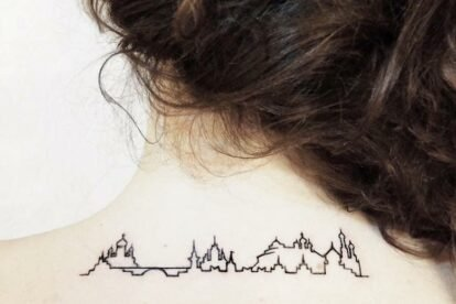 Moscow city line tattoo
