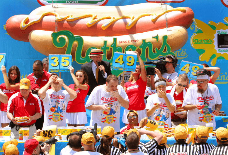 nathans hot dog eating contest