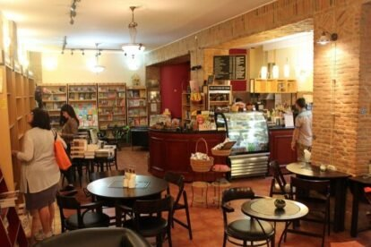 Inside of Prospero cafe