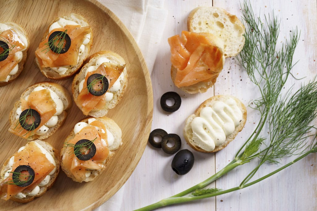 Traveling through taste 8 food trends spotted by locals for Smoked salmon cream cheese canape