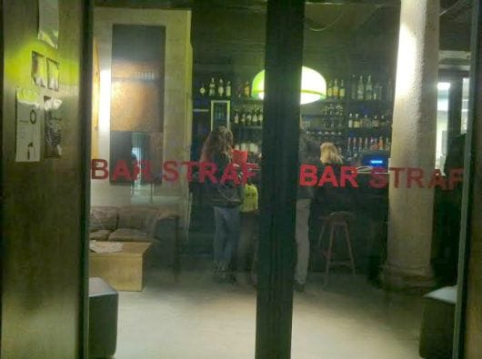 milan, straf bar, spotted by locals