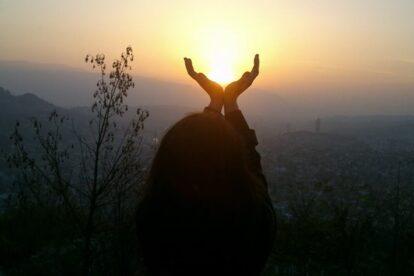 hidden place to watch sunset in Sarajevo