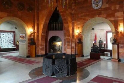 Mother Armenia Pedestal Yerevan