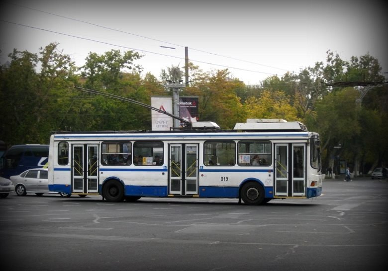 A Ride on a Trolleybus Yerevan