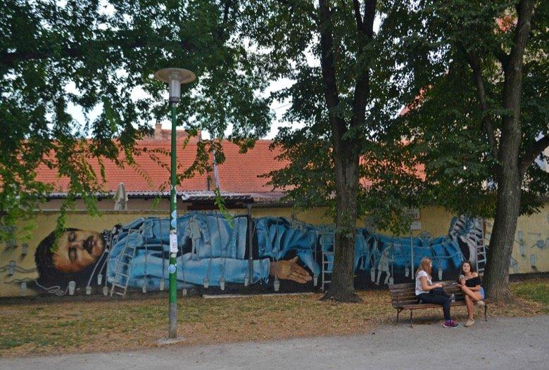 Gulliver Mural Zagreb